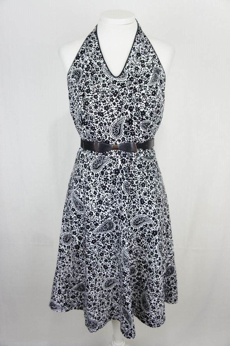 Cool awesome ann taylor womens dress petite floral halter summer