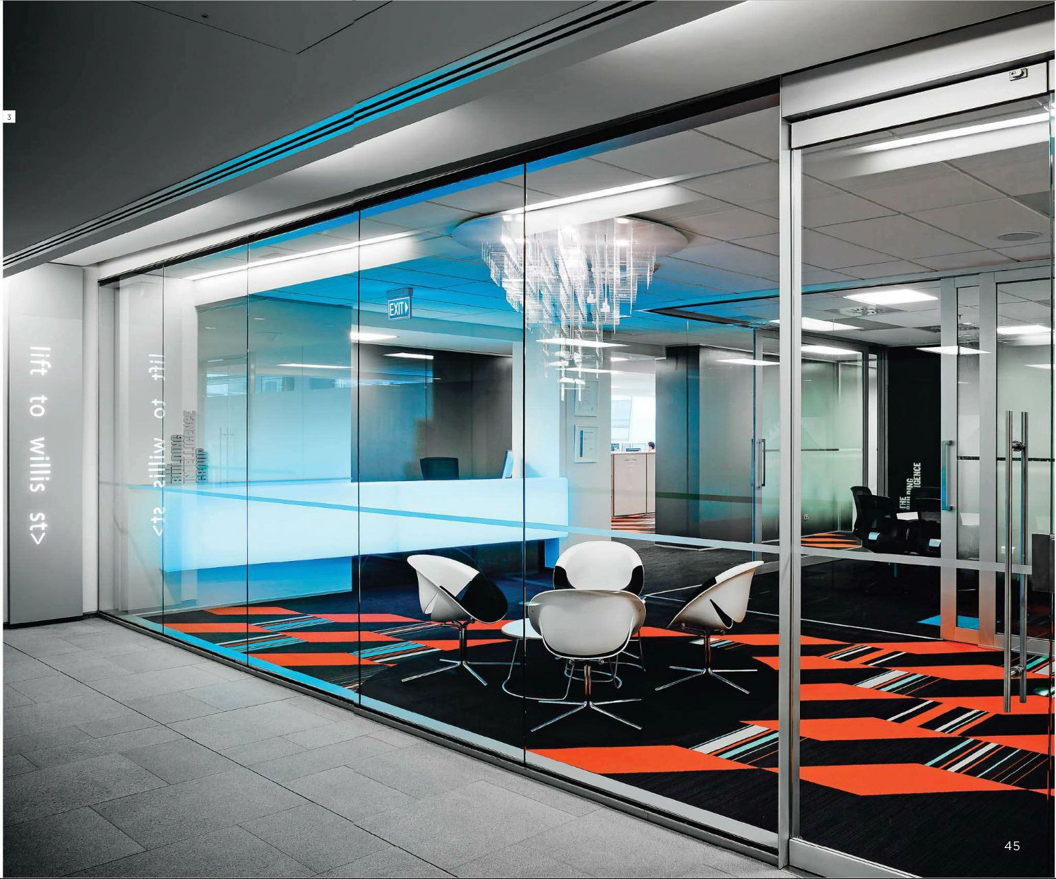 Contemporary Office, Conference Room, Glass Walls, Office Interiors, House Architecture,