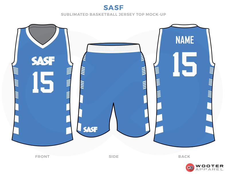 Download Sasf Blue White Custom Basketball Uniforms Jerseys Shorts Basketball Uniforms Design Custom Basketball Uniforms Custom Basketball