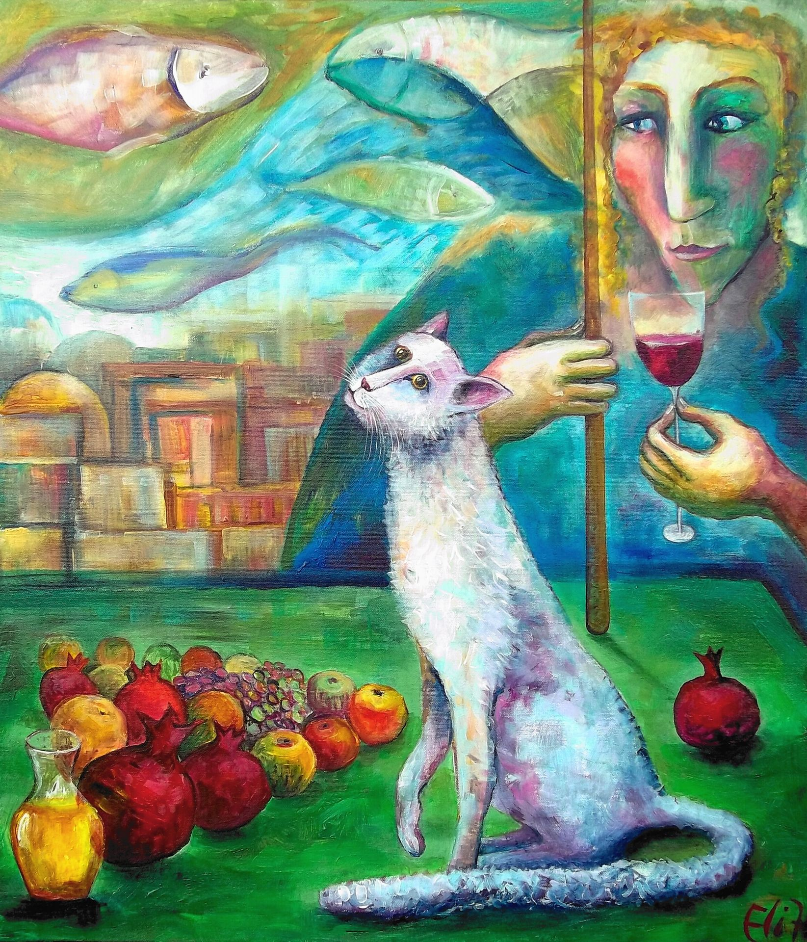 JEWISH NEW YEAR. NEW GAME SOLD Painting Arte, Año