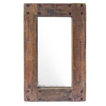 reclaimed wood mirror - to frame in the bathroom mirror once I ...