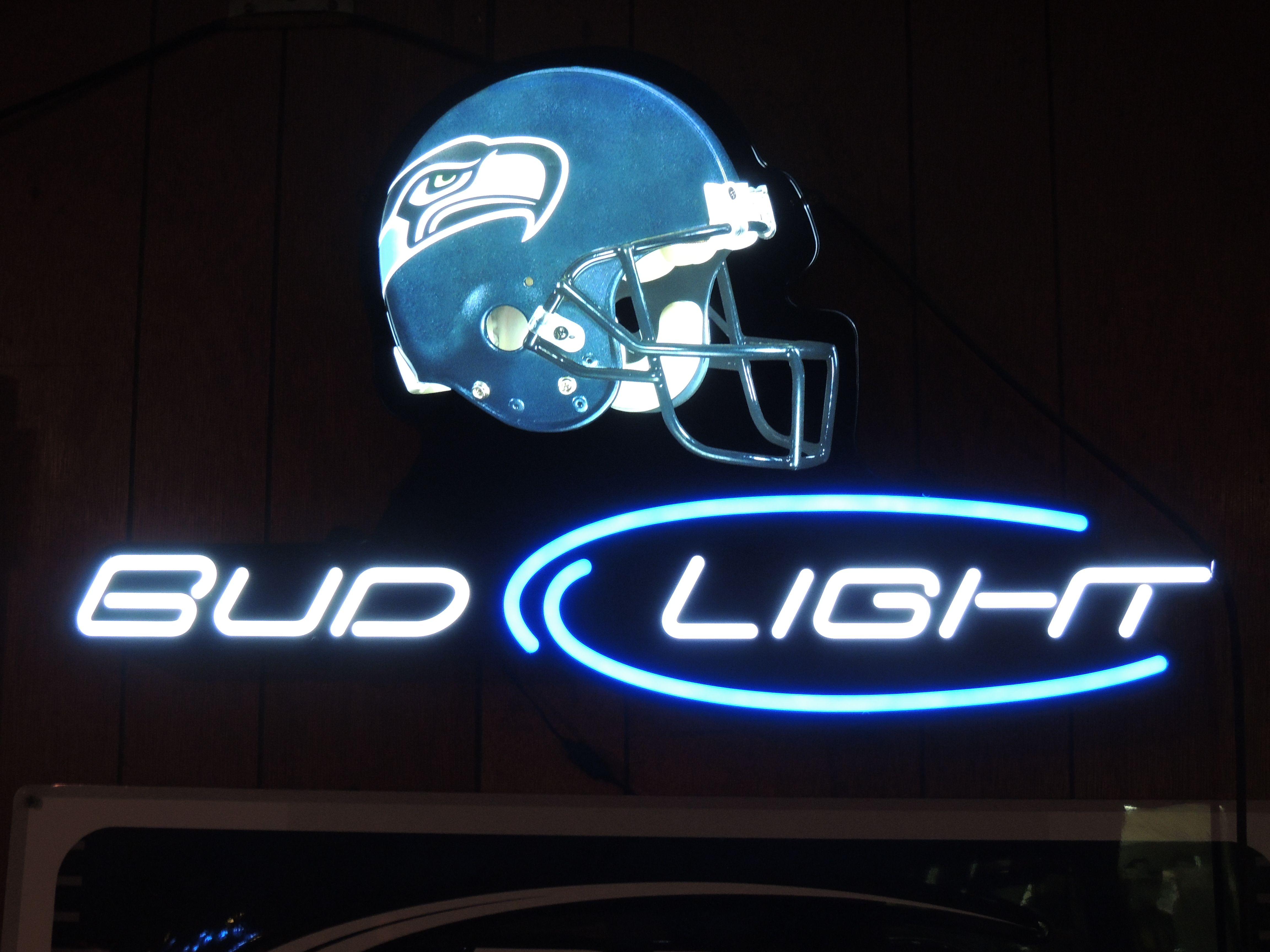 Neon Beer Sign .. Seattle Seahawks .. NFL .. Football
