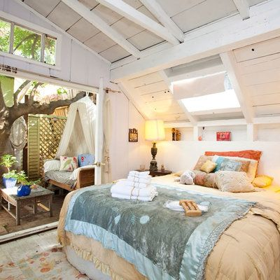 Not a hotel per se, but a rustic 1927 treehouse Airbnb stay in Silver Lake