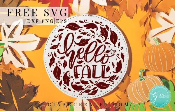 Hello Fall Free SVG Cut File