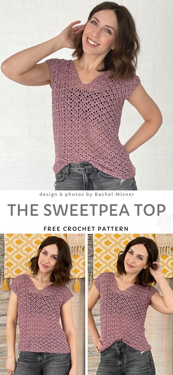 The Sweetpea Top Free Crochet Pattern