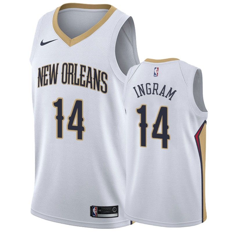 Mens New Orleans Pelicans Brandon Ingram 2019 20 Association Jersey Brandon Ingram New Orleans Pelicans Ingram