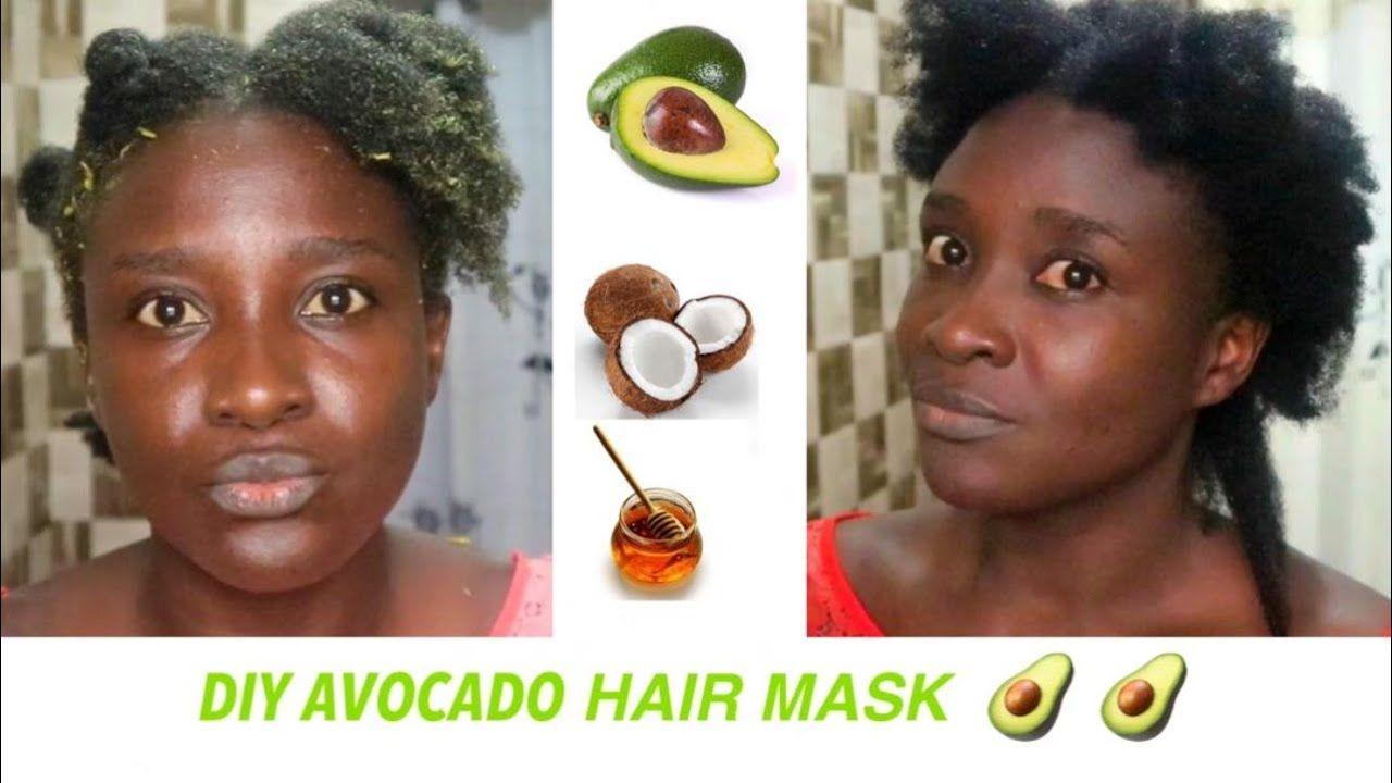 Diy avocado mask on natural hair 4c hair avocado mask