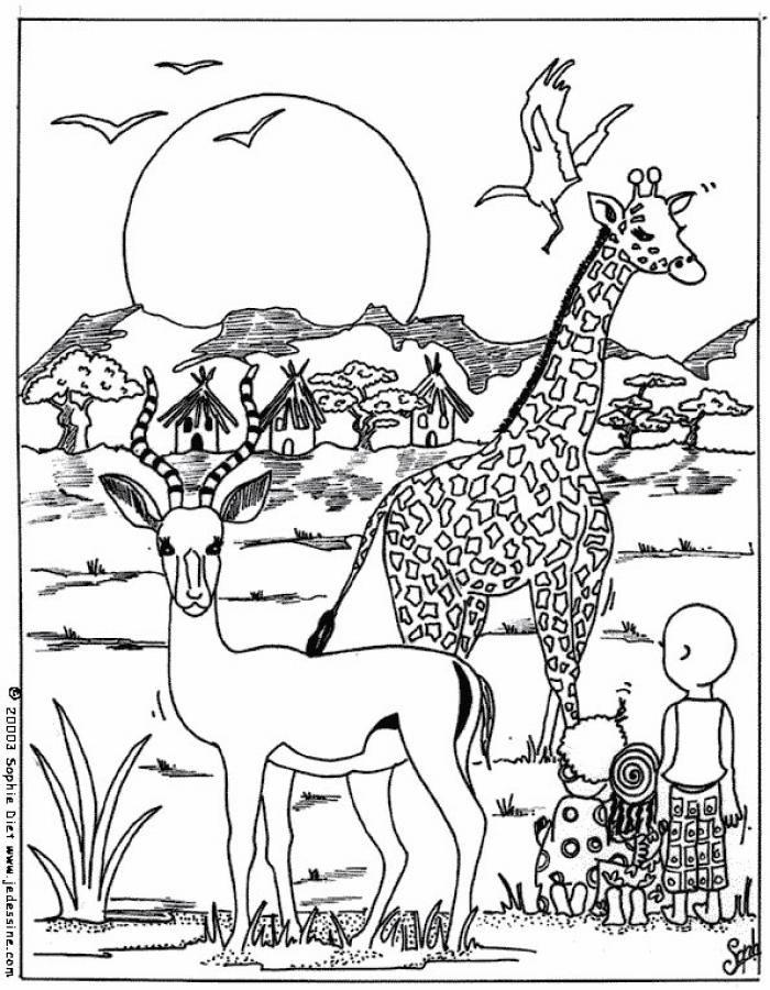 dibujos para colorear la sabana - Buscar con Google | africa ...