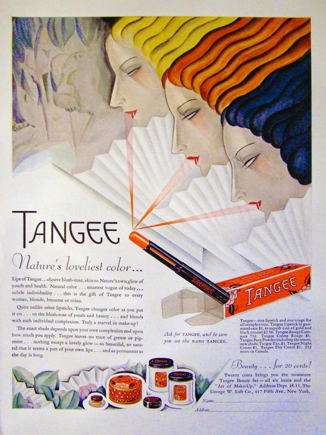 Tangee Cosmetics Ad