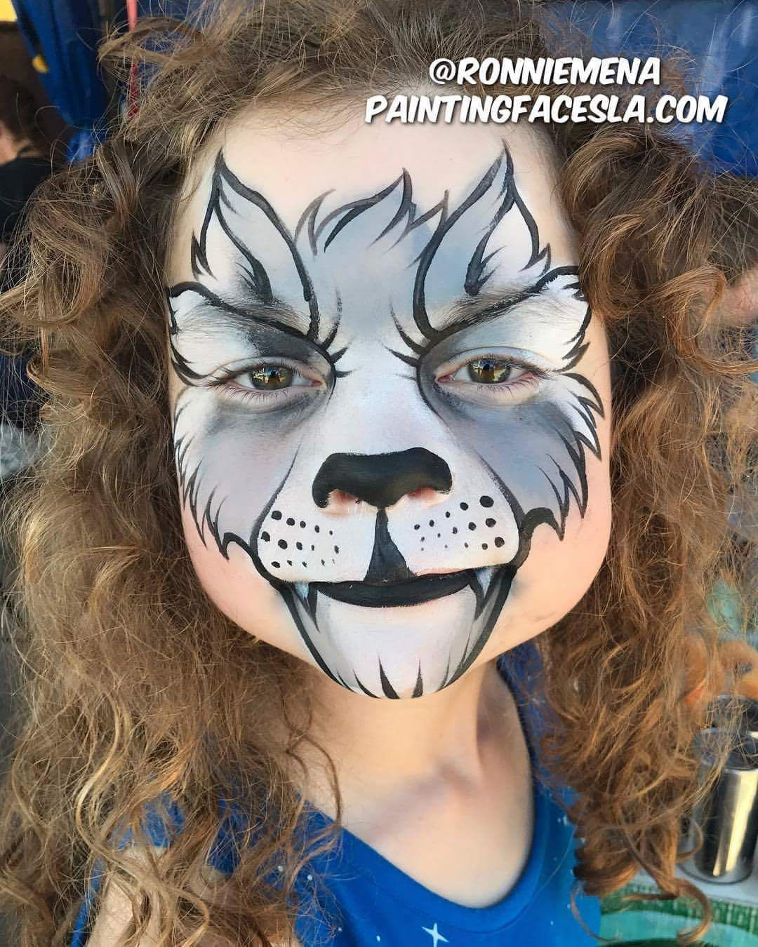 Wolf Face Painting Face Painting Halloween Animal Face Paintings Face Painting