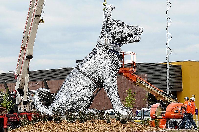 Denver's Dog Tag Sculpture