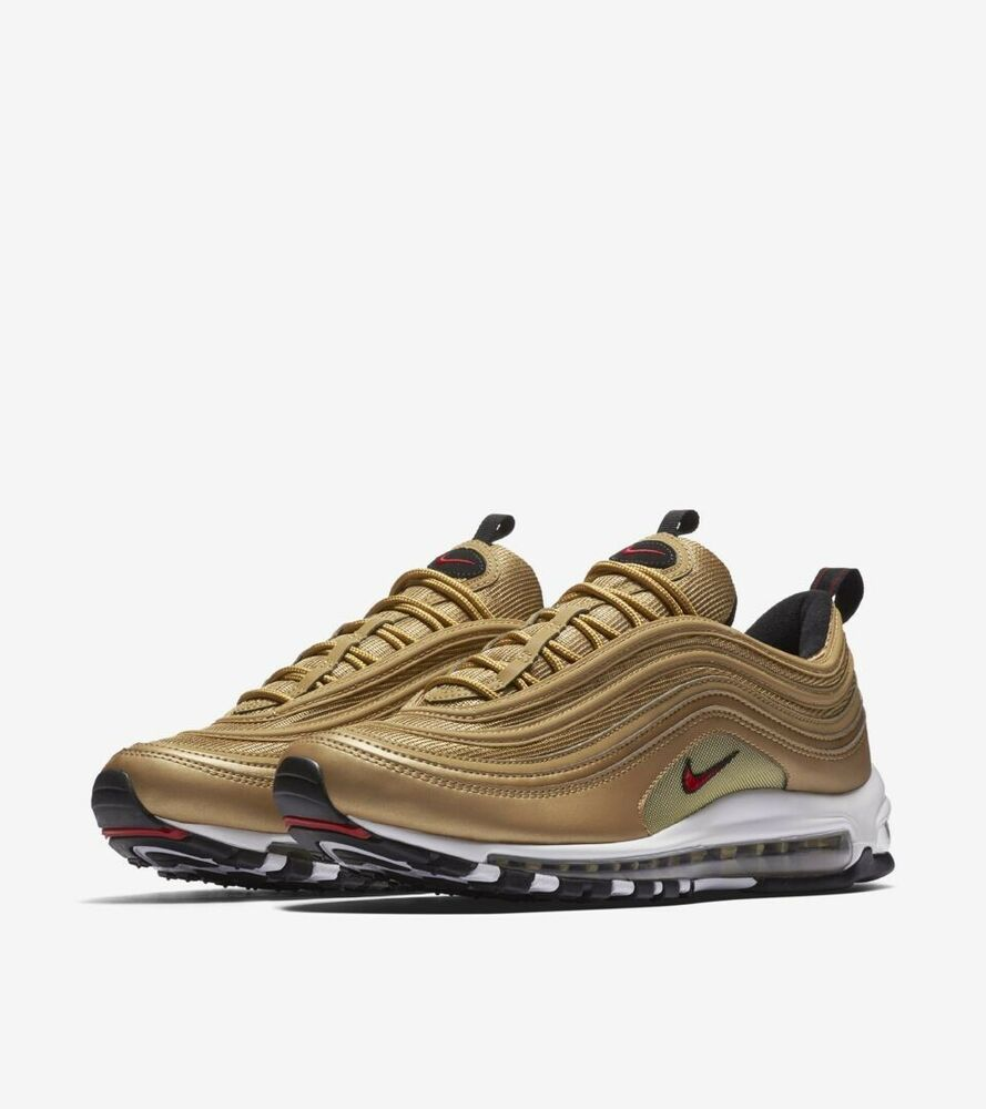 3a8056c44a0cf Nike Air Max 97 OG QS Metallic Gold Size 8 Womens Metallic Gold Red ...