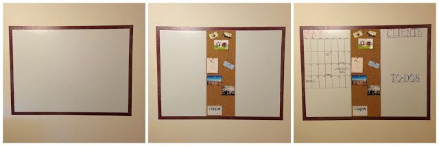 DIY Whiteboard-For Home Office | Moving to NYC 101-under $50