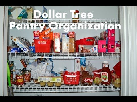 Dollar Tree Pantry Organization - YouTube
