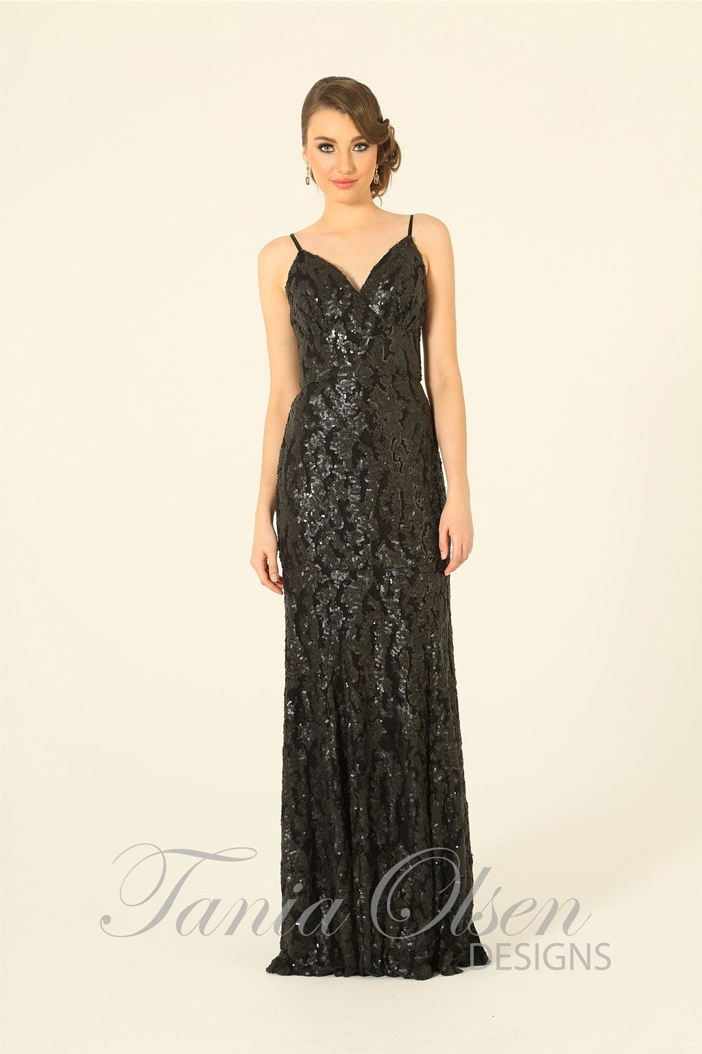 Black mila evening dress gowns pinterest olsen dress designs