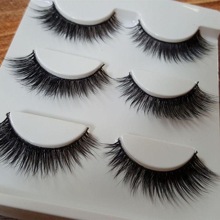 6pairs Natural Long 3d False Eyelashes Makeup Handmade Thick Fake