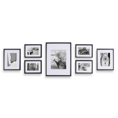 Gallery Perfect 7-Piece Frame Set in Black | Galleries, Bath and Walls