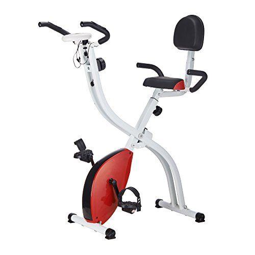 Pinty Folding Abdominal 8 Level Magnetic Upright Exercise Bike