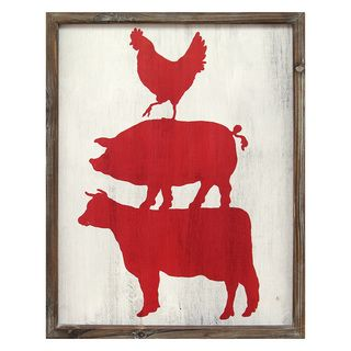 Shop for Stratton Home Decor Cow, Pig, and Rooster Wall Art. Free Shipping on orders over $45 at Overstock.com - Your Online Home Decor Outlet Store! Get 5% in rewards with Club O!