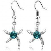 starfish summer earrings with birthstone crystals popular design