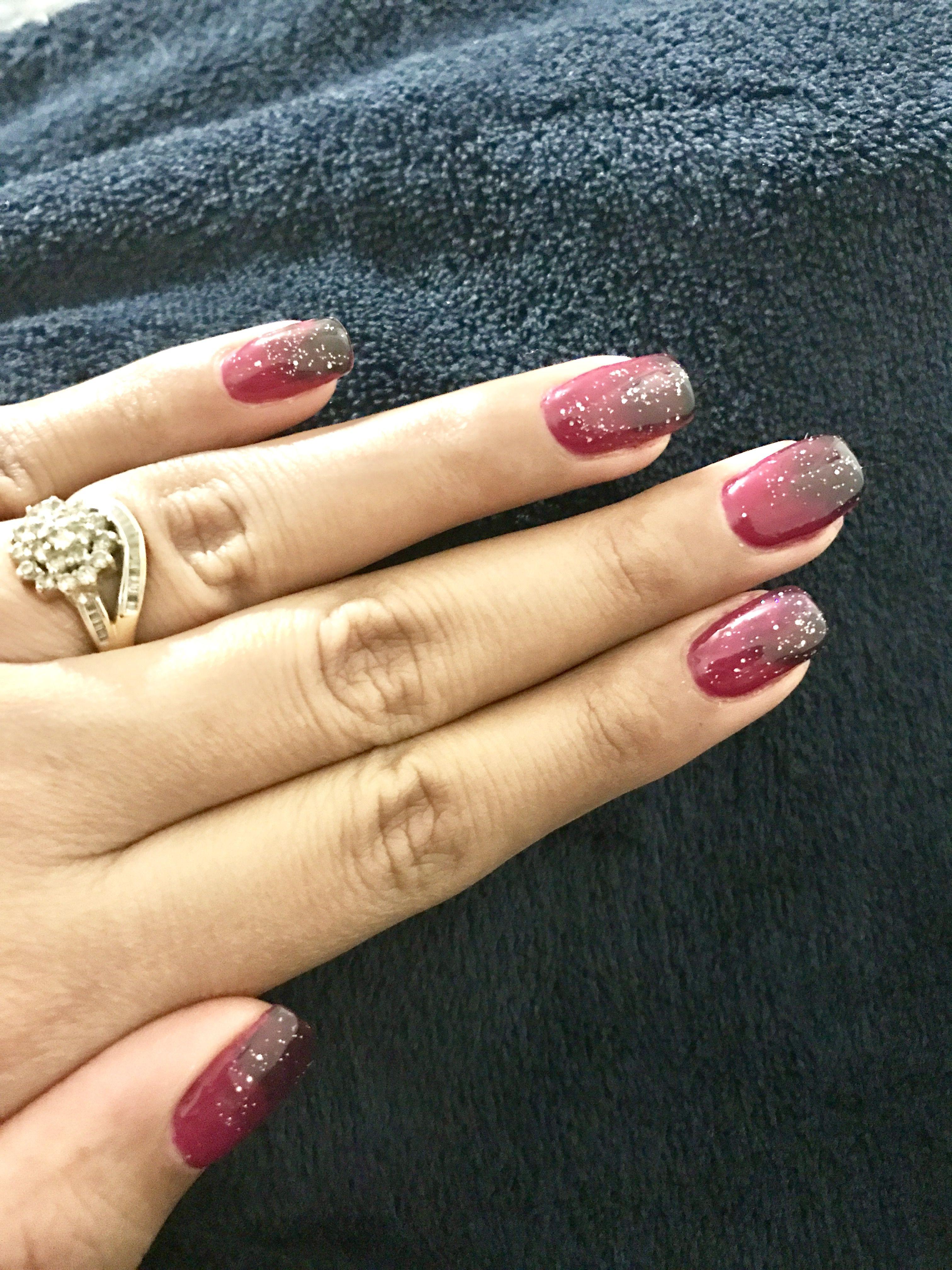 Ombre nails Sharan Edmonton Contact     Nail