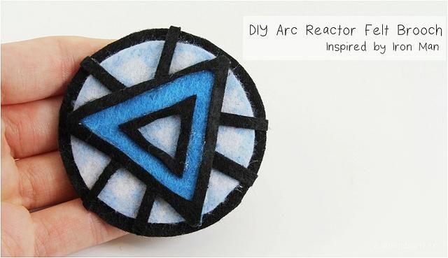 DIY Brooch DIY No-Sew Arc Reactor Brooch DIY Brooch | DIY
