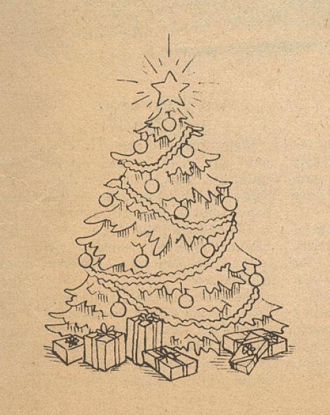 Drawing Christmas Tree Sketch.Drawing A Realistic Christmas Tree Sketches Of Tree With
