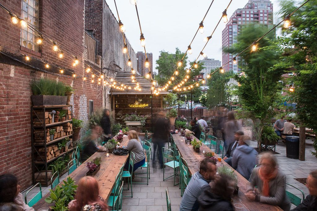 Before after south street philadelphia pop up garden - Living room cafe menu philadelphia ...