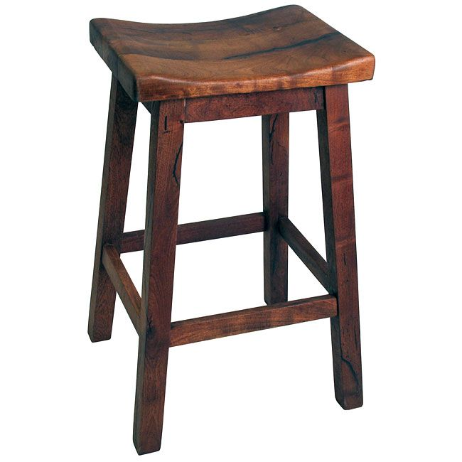 Saddle Seat Mesquite Bar Stool 30