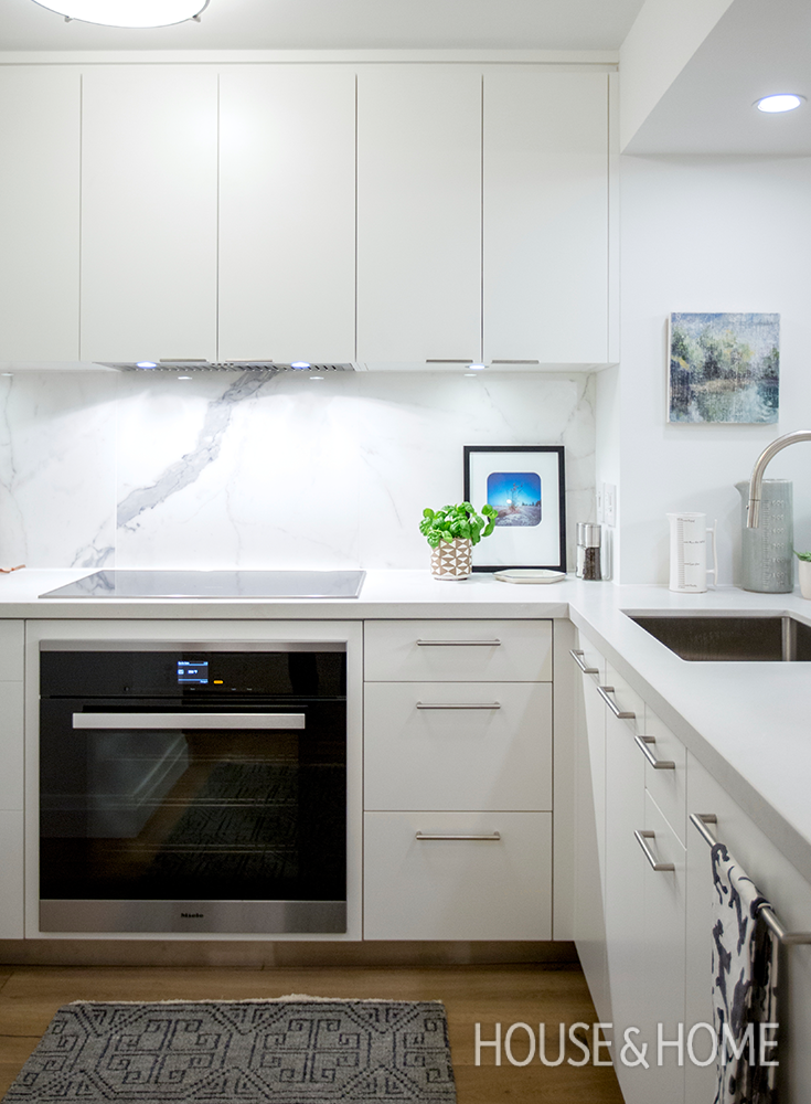 Designer Cameron MacNeil Transforms A Builder Basic Condo Kitchen Into A  Modern Space With Timeless Finishes Part 67
