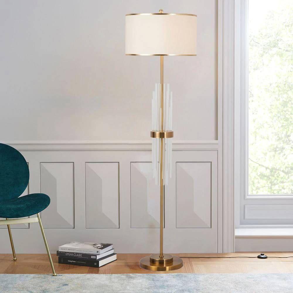 Modern Led Crystal Floor Lamps Bedroom Standing Lamps Lights