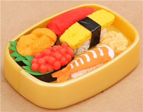iwako erasers delivery sushi 6 pieces set 1