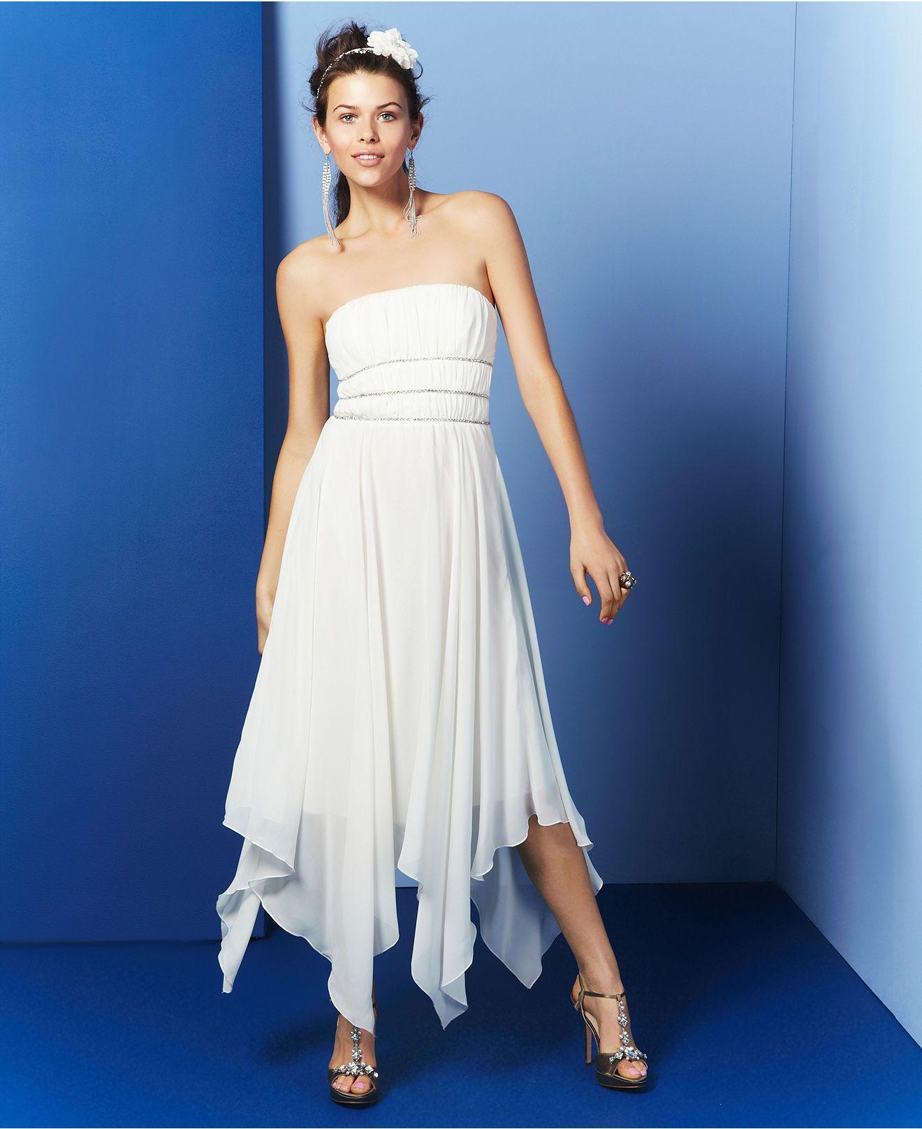 Macyus strapless hankerchief chiffon trixxi dress where to find