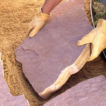Install a flagstone, gravel, or paver walkway in a weekend or less! Use these three DIY walkway ideas to add interest to your yard -- our easy how-tos walk you through every step of the process.