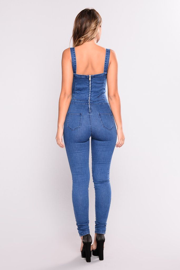 9876dd0e738 Grayson Denim Jumpsuit - Medium Wash