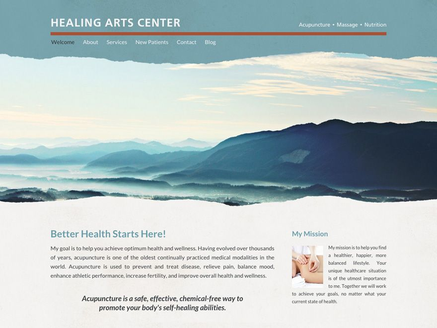 Torn Away Responsive Website Design Of Acupuncture Clinic 00061 Website Design Acupuncture Acupuncture Clinic