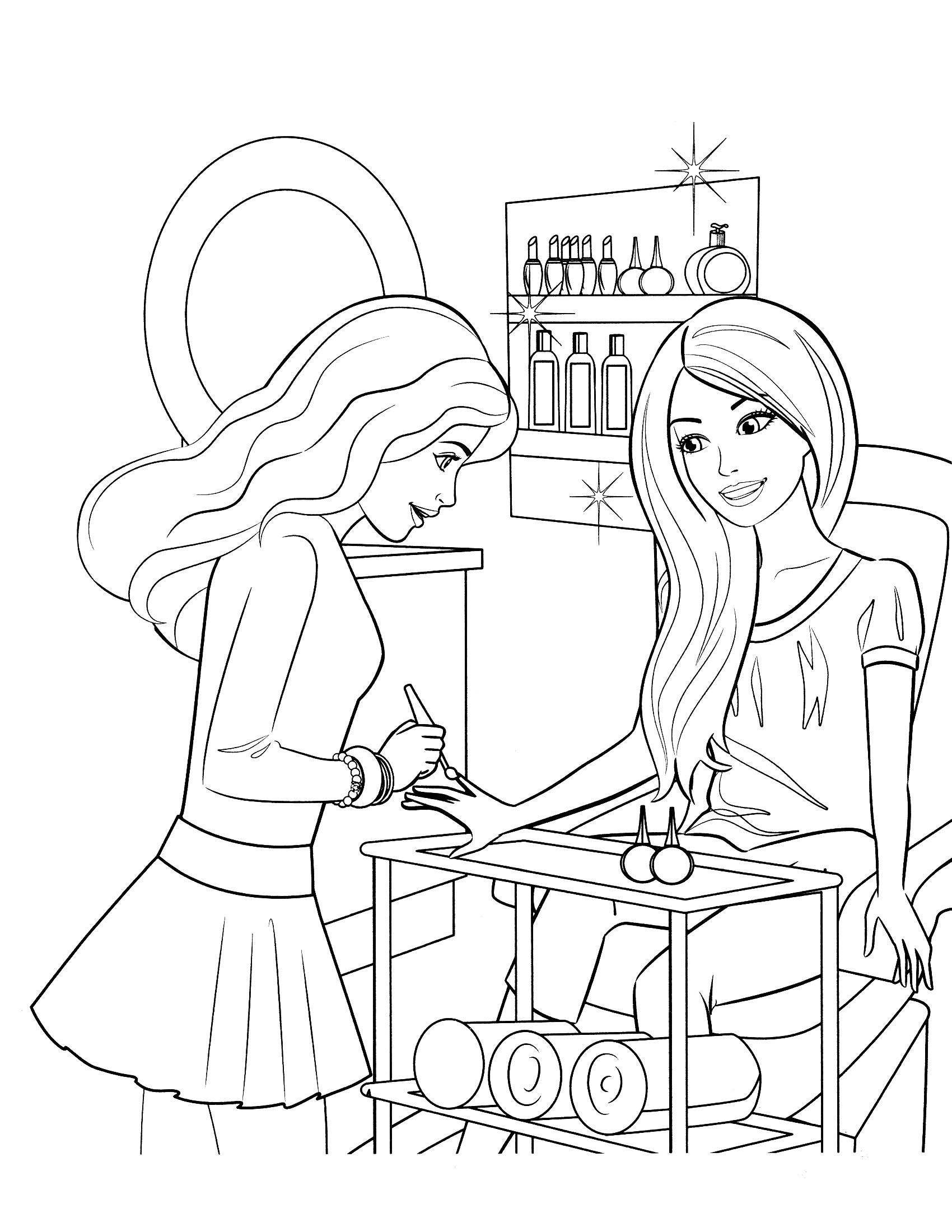 free printable barbie coloring pages for kids barbie drawing ...