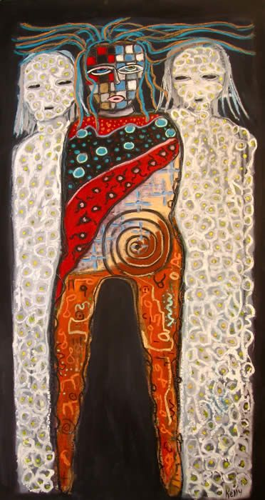 """""""Protected by Truth & Luck"""" painting by Santa fe New Mexico artist Artist…"""