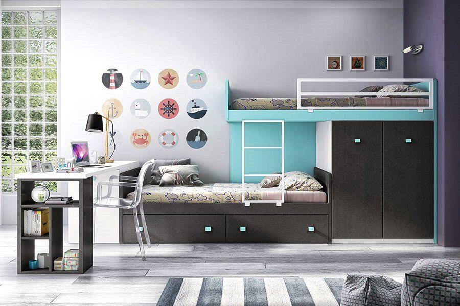 F 256 Bunk Bed Set Furniture Modern Kids Furniture Kids Furniture