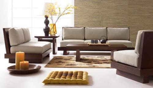 Zeitgenössische Holz Sofa | Wohnzimmer modern, Sofa design ...