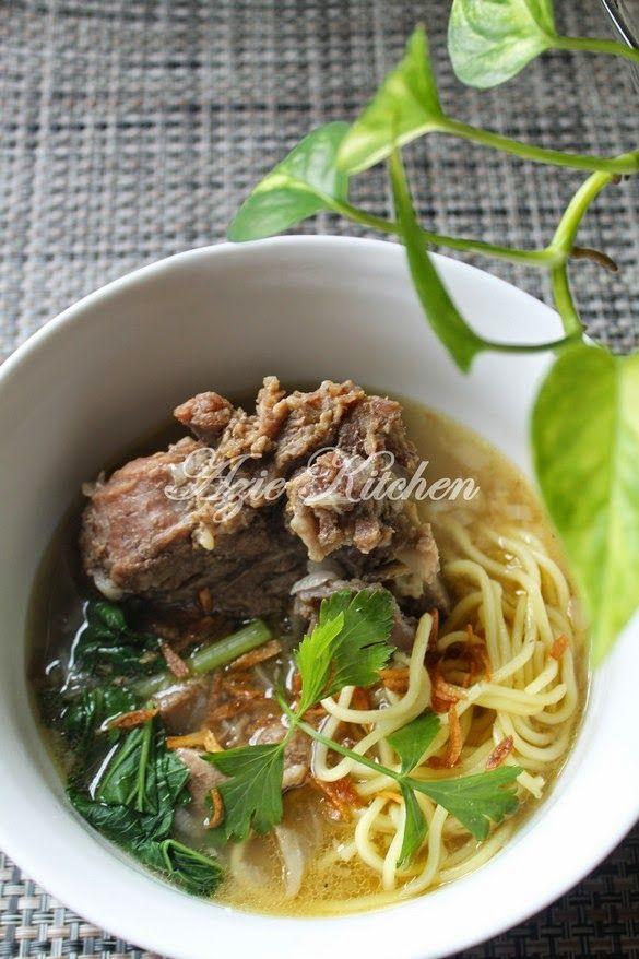 Azie Kitchen Mee Sup Tulang Istimewa Yang Sangat Sedap Resep Masakan Asia Resep Makanan Makanan Dan Minuman