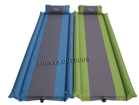 Details About Self Inflating Camping Mattress Mat Air Bed With Pillow Joinable Thickness 4cm Camping Mattress Pillows Outdoor Blanket