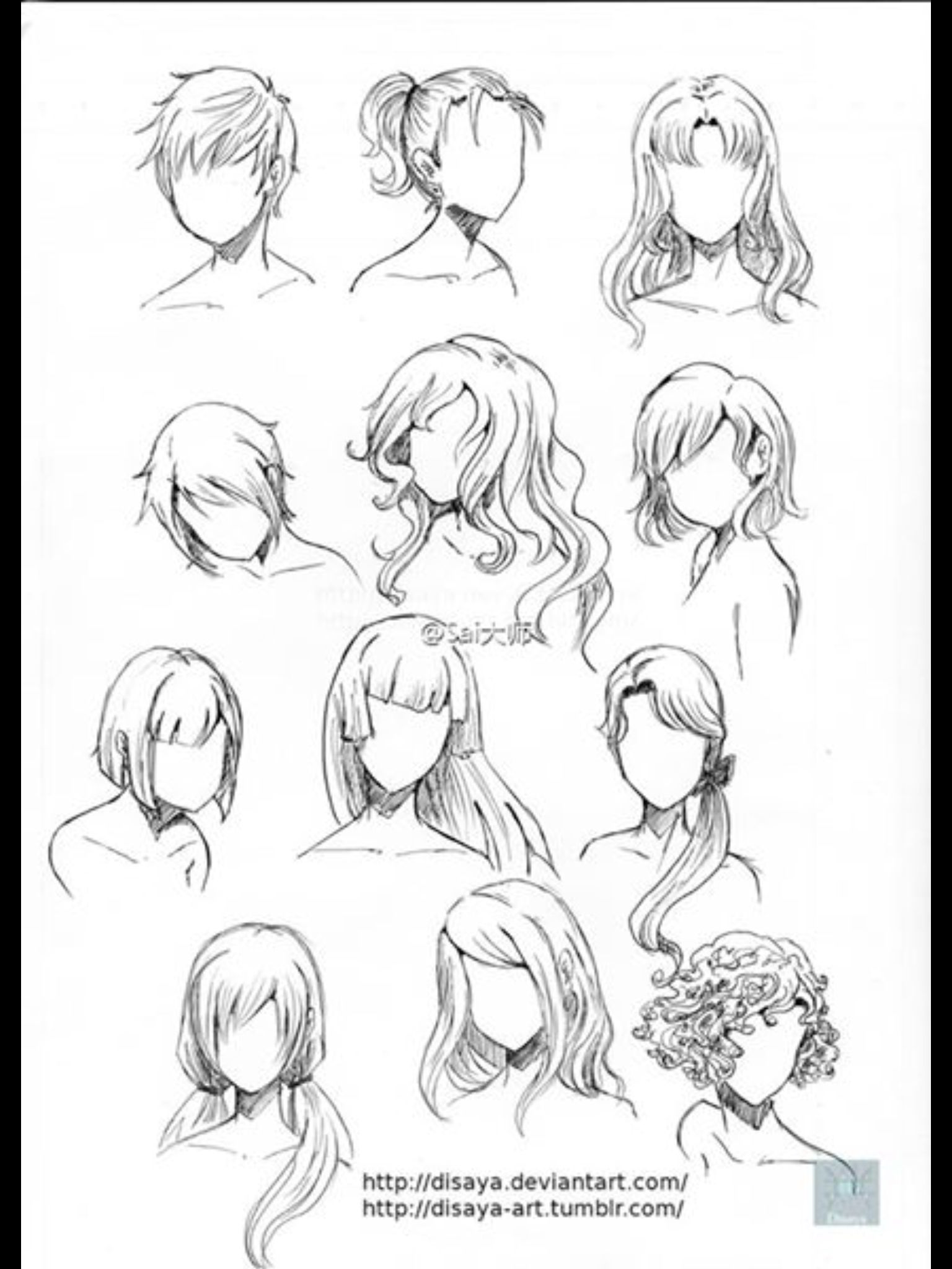 Drawing Hair 2 Drawing Art Tutorials Pinterest