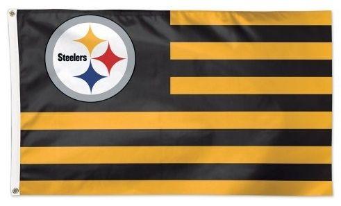 Nfl Flag Pittsburgh Steelers Americana 3x5 Stars And Stripes