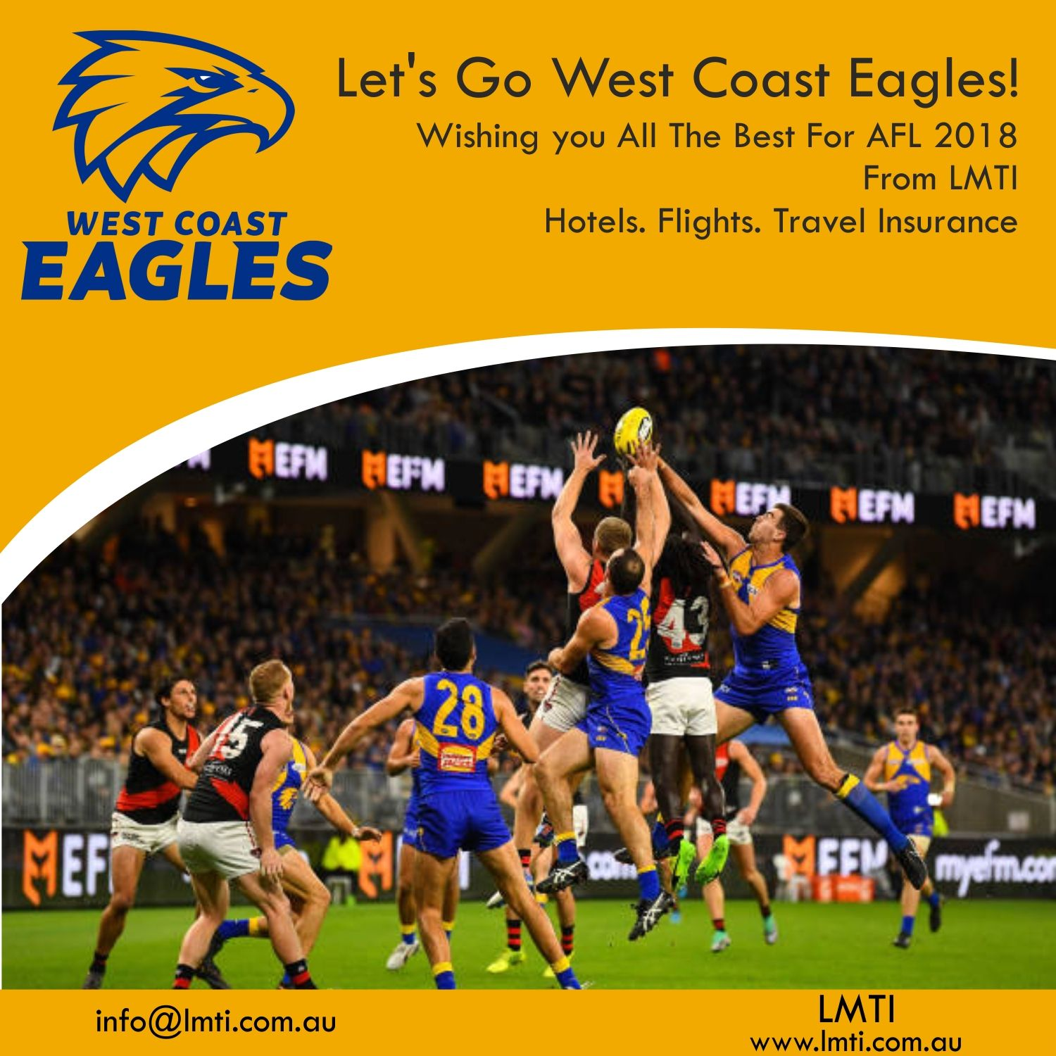Let S Go West Coast Eagles Wishing You All The Best For Afl 2018 From Lmti Book Now Hotel Travel Insurance Travel Insurance Quotes Travel Insurance Companies