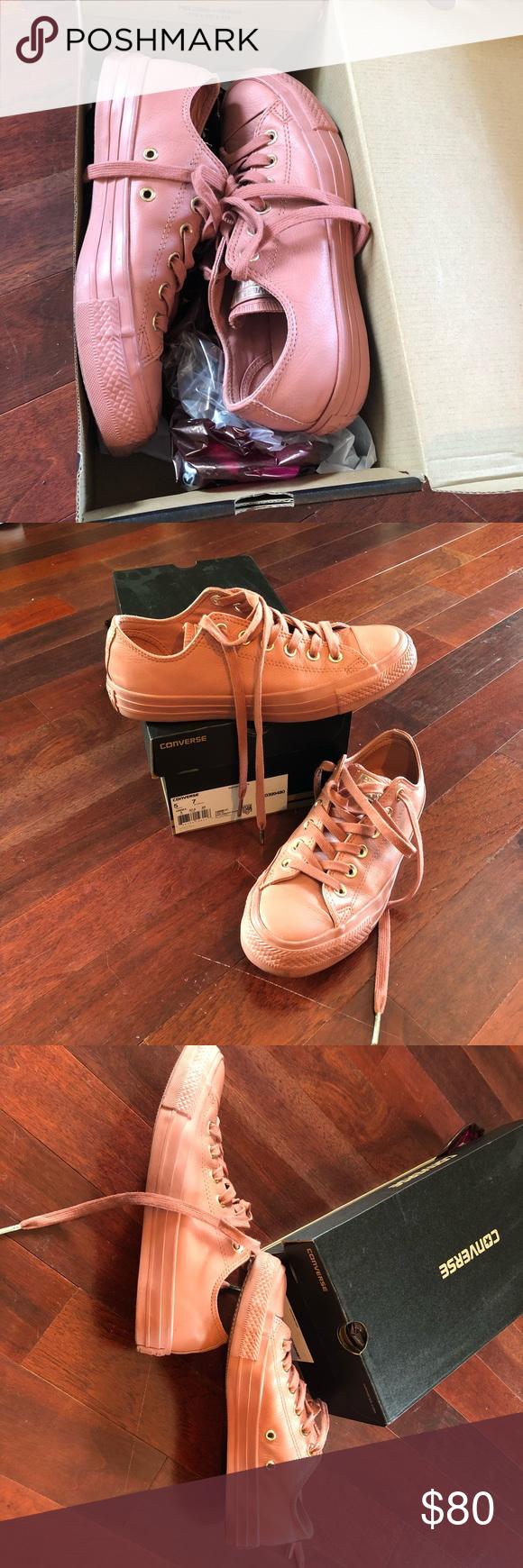 cb9816beaca7 Low Leather Desert Sand Pink Converse (Size 7) Converse Chuck Taylor All  Star Blush