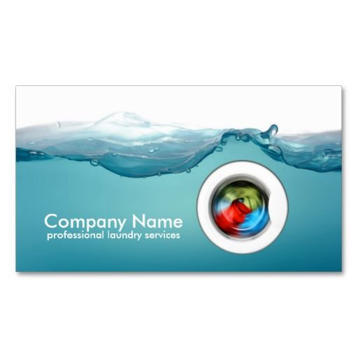 Laundry Service Blue Water Business Card Zazzle Com Laundry Service Laundry Business Laundry Service Business