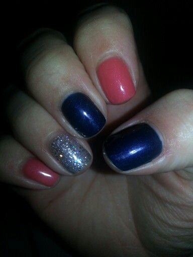 navy blue coral & glitter lemme