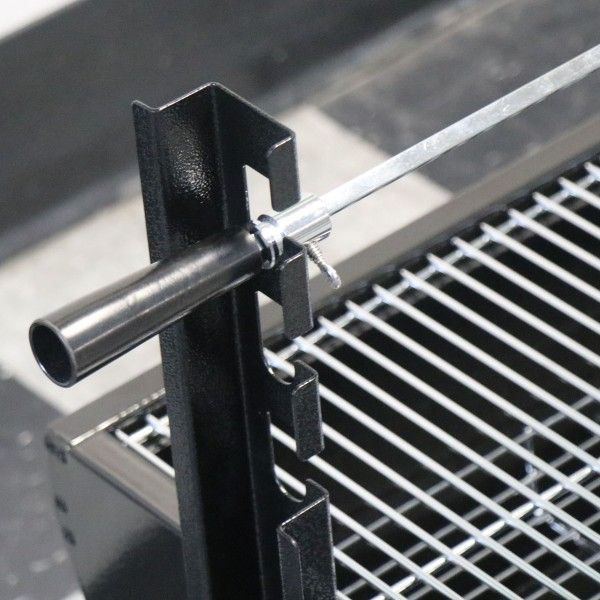 """28"""" Stainless Steel Spit Rod Rotisserie Grill"""