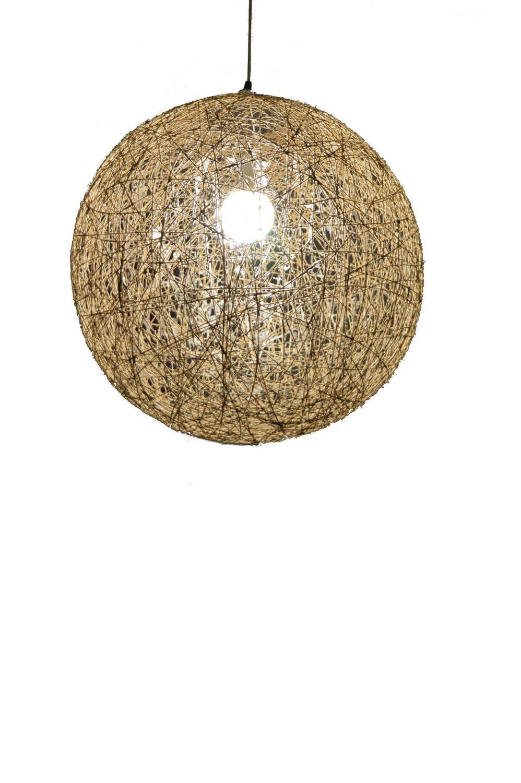 Hemp Sphere Pendant Light Rustic Pendant Lamp Hemp Lighting Fixture Ball Shadow Lamp Bedroom Light Fixture Ceiling Lamp 40cm 16 Rustic Pendant Lamp Sphere Pendant Light Bedroom Light Fixtures